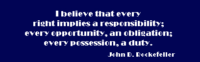 Responsibility Core Characteristic Quote