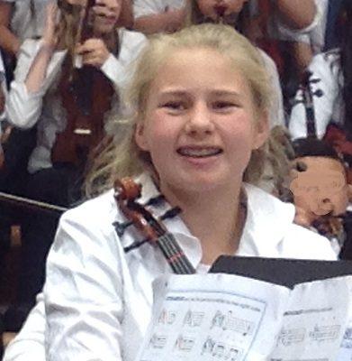 6th Grade violinist