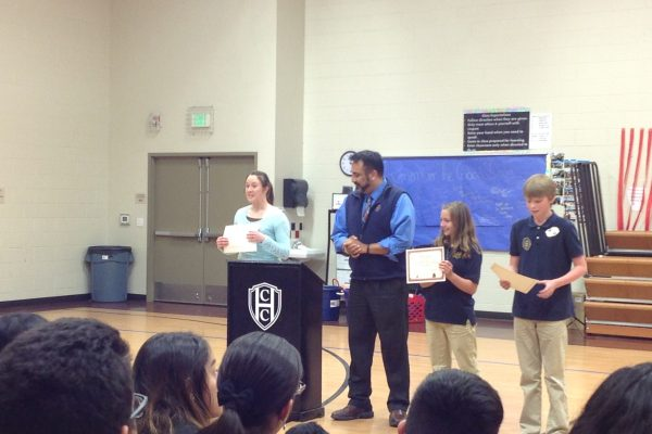 Mrs. Young, Mr. Castaneda present awards