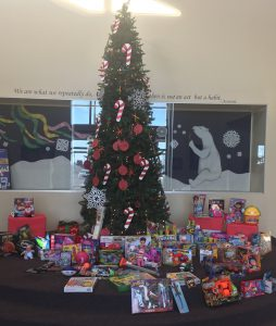 Gifts donated/collected by our wonderful students for the December toy drive.