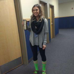 Mrs. Godsill's crazy socks