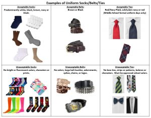 Examples of Socks-Belts-Ties
